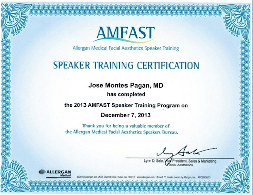 amfast certification montes