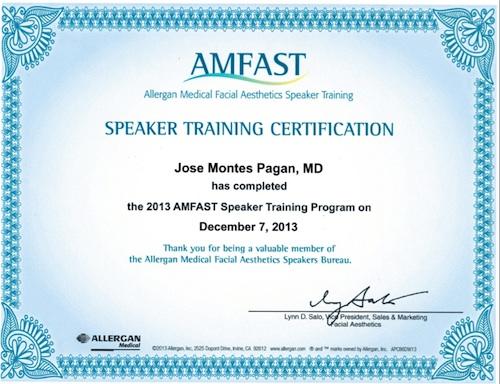amfast certification montes