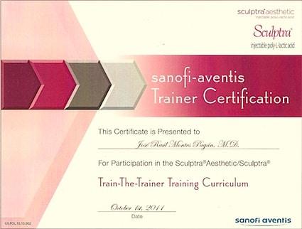 sculptra trainer certificate