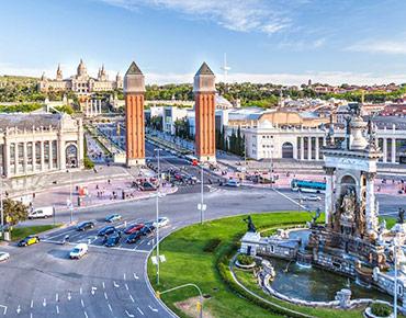 Barcelona Oculoplastics 2019 - Vista de la Plaça Espanya