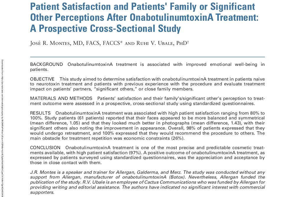 botox patient satisfaction header