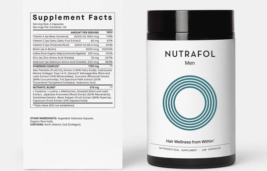Nutrafol Men_s Label and Bottle