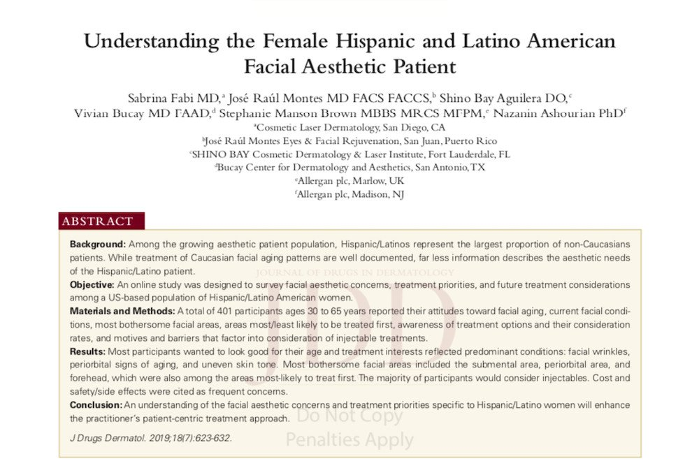 understanding the female hispanic and latino american facial aesthetic patient header